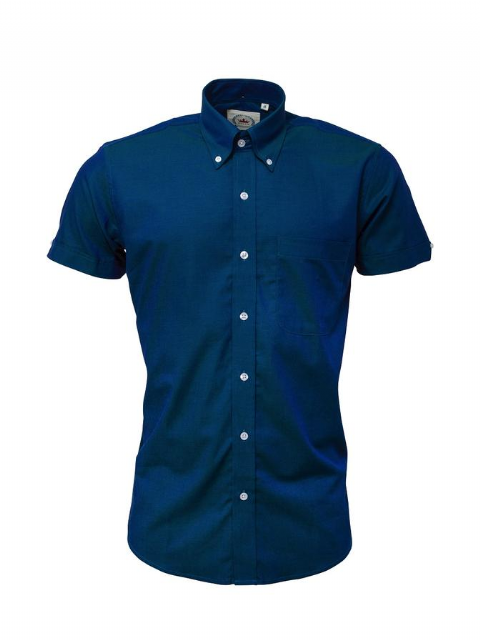 Relco Two Tone Blue Shirt Sleeve Shirt